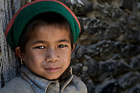 A young school girl in the village of Sunam in the Ropa Valley in Himachal Pradesh, India