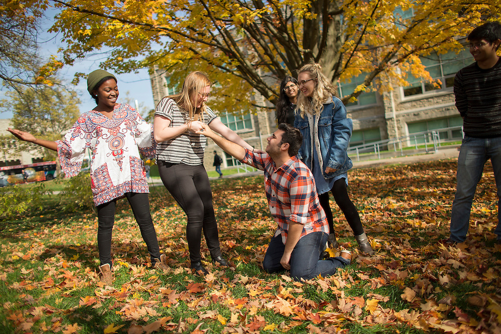 Students from Western University's Faculty of Arts and Humanities are photographed on campus in London Ontario, Tuesday,  November 1, 2016.<br /> Western University/ Geoff Robins