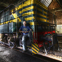 Disused trains at SNBC in Belgium