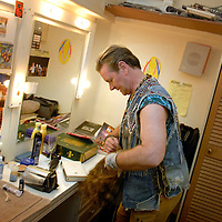 UK. London. We Will Rock You, the Musical by Queen and Ben Elton, being performed in London's Dominion Theatre..Photo shows Jeff Shankley who plays Pop..Photo©Steve Forrest/Workers' Photos
