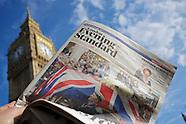Standard Evening. Thatcher's funeral, London UK.