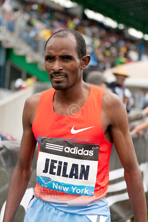 adidas Grand Prix Diamond League professional track & field meet: mens 5000 meters, Ibrahim JEILAN, Ethiopia