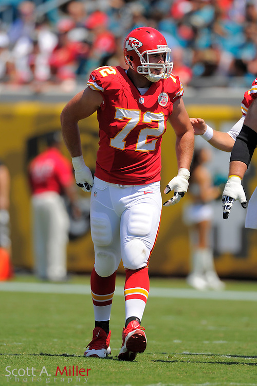 Kansas City Chiefs offensive tackle Eric Fisher (72) during the Chiefs 28-2 win over the Jacksonville Jaguars at EverBank Field on Sept. 8, 2013 in Jacksonville, Florida. The <br /> <br /> &copy;2013 Scott A. Miller