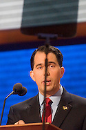 TAMPA, FL - August 27, 2012: Wisconsin  Governor Scott Walker at the 2012 Republican National Convention.