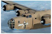 "B-24 Liberator ""Diamond Lil"", aerial closeup"