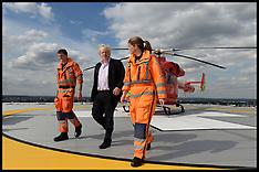 AUG 06 2013 Boris Johnson visits Londons Air Ambulance