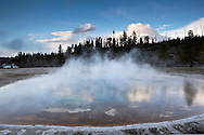 Beauty Pool Hot Spring in Upper Geyser Basin, Yellowstone National Park, Wyoming