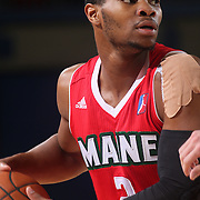 Maine Red Claws Guard COREY WALDEN (2) looks to pass the ball in the first half of a NBA D-league regular season basketball game between the Delaware 87ers and the Maine Red Claws Friday, Feb. 05, 2016 at The Bob Carpenter Sports Convocation Center in Newark, DEL.