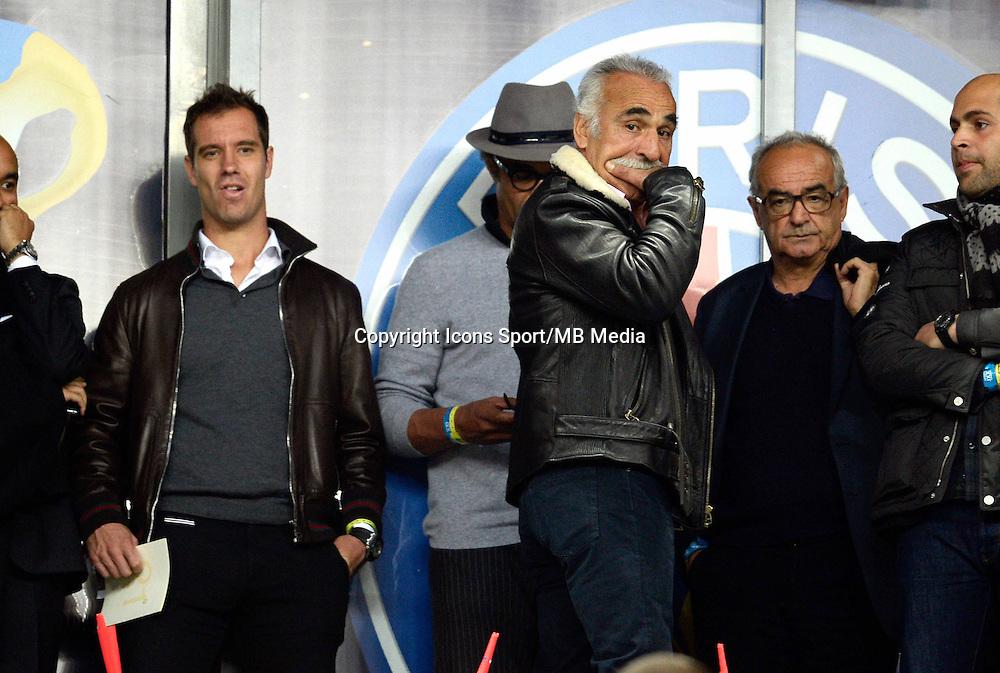 Yannick NOAH  / RICHARD GASQUET  / Mansour Bahrami    - 11.04.2015 -  Bastia / PSG - Finale de la Coupe de la Ligue 2015<br />Photo : Visual / Icon Sport