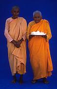 Buddhist nuns at Anuradhapura.