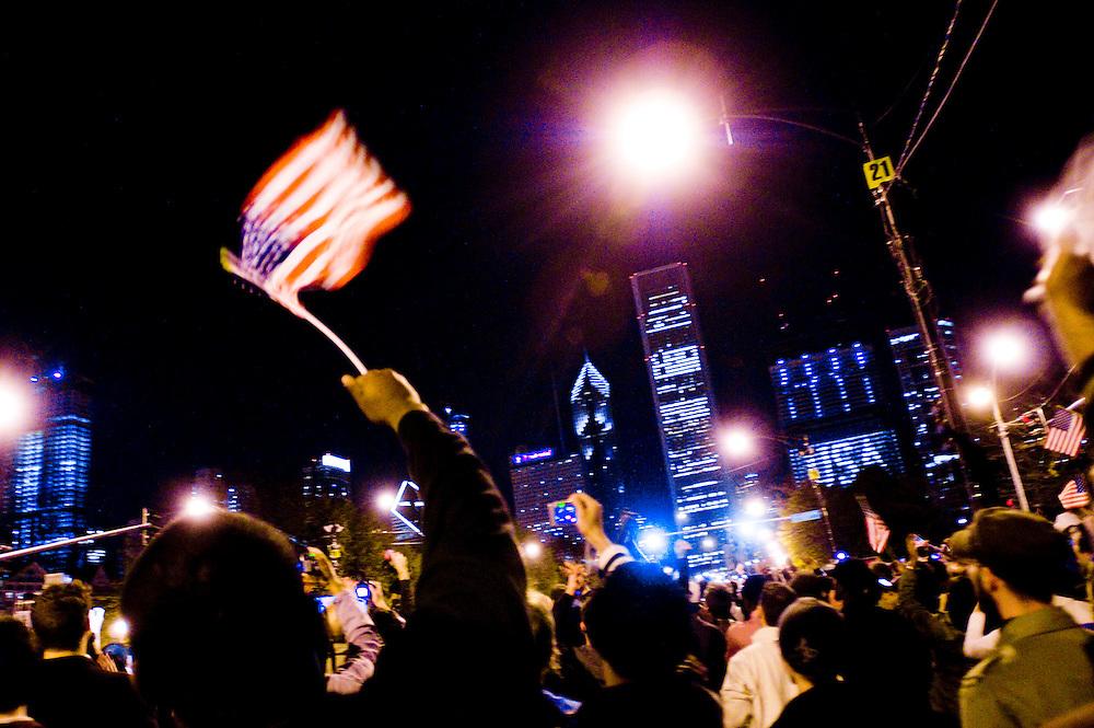 Obama Election Night in Grant Park, Chicago...Photographer: Chris Maluszynski /MOMENT