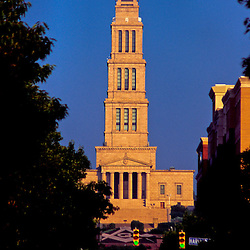 The George Washington Masonic Memorial from King Street, Alexandria, Virginia