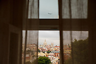 """The view from one of the rooms at hotel """"Casa das Janelas com Vista"""", where the summit of Basilica da Estrela can be seen."""