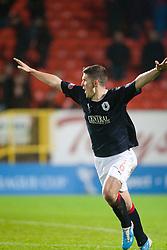 FAlkirk's last penalty scored by Stewart Murdoch..Falkirk win on penalties. Dundee Utd 2 v 2 Falkirk. Scottish Communities League Cup, 25/10/2011..Pic © Michael Schofield.