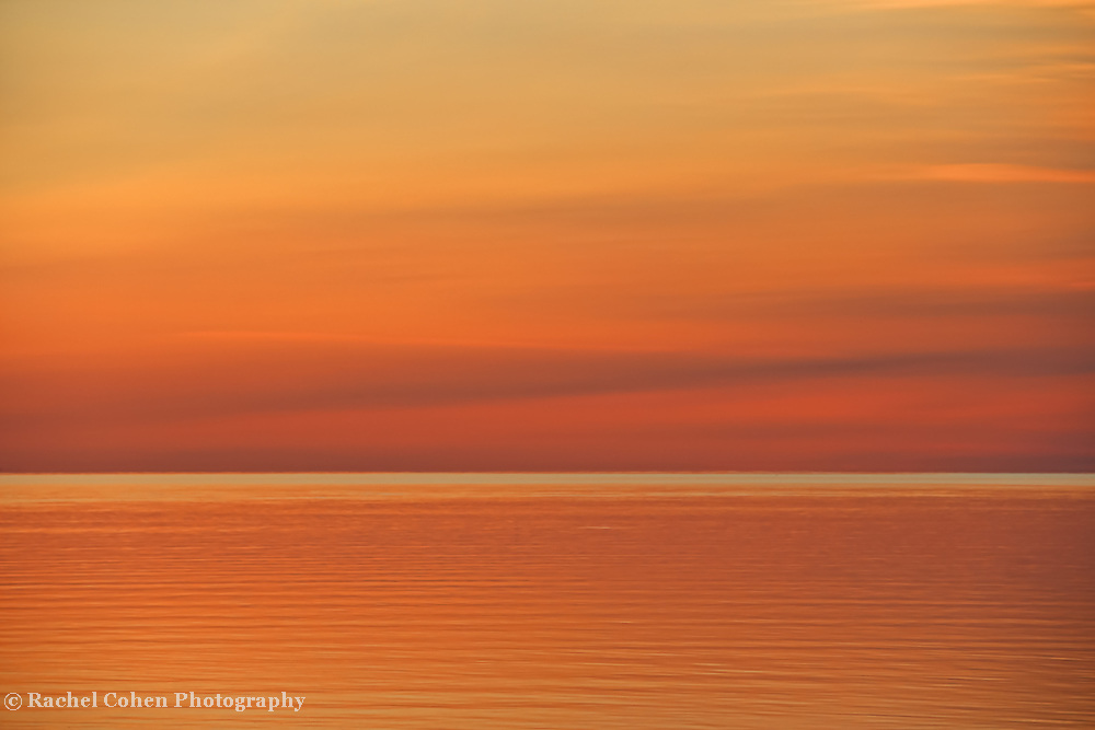 &quot;Dawn of Calm&quot;<br /> <br /> A beautiful and calming abstract sunrise image over Lake Huron!!<br /> An apricot colored dream!!<br /> <br /> Nature Abstracts by Rachel Cohen