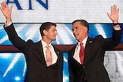 TAMPA, FL - August 30, 2012: Presidential nominee Mitt Romney and vice presidential nominee Rep. Paul Ryan.