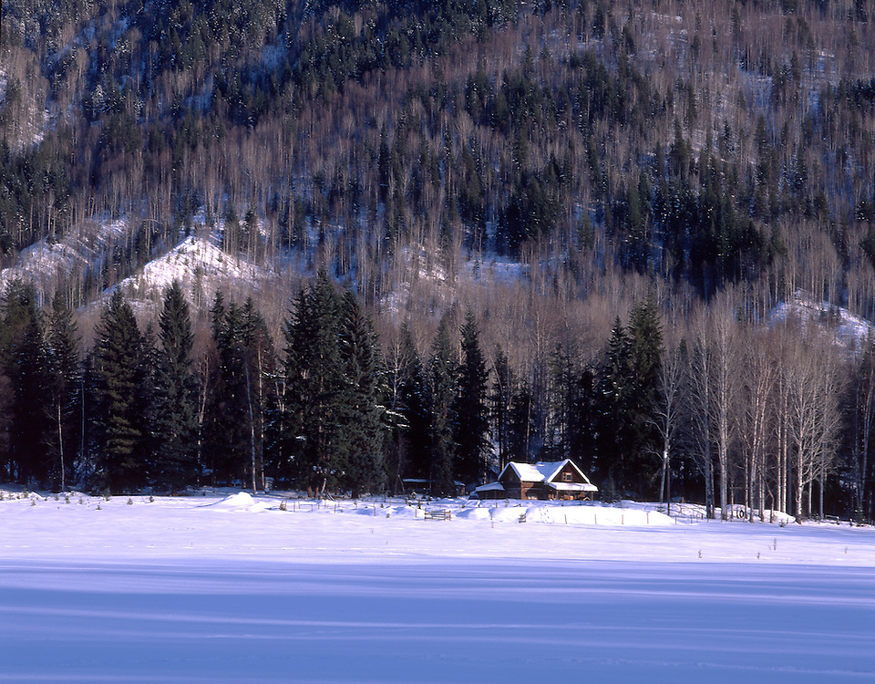 Winter landscape near Clearwater, British Columbia, Canada