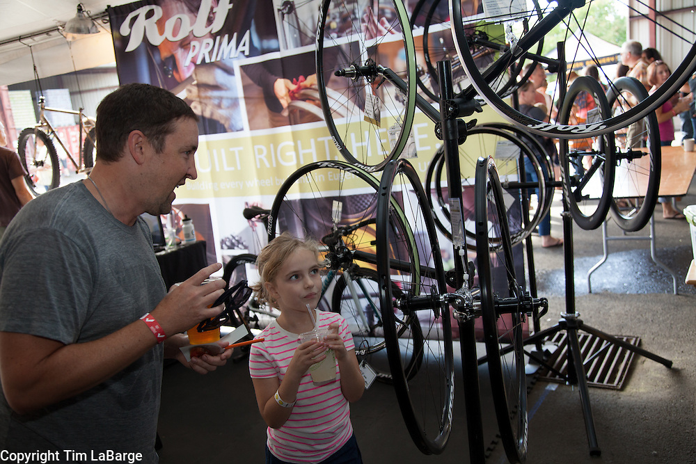 at the Handmade Bike and Beer Festival at Hopworks Urban Brewery in Portland, Oregon. Image by Tim LaBarge