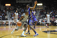 "Mississippi's Jarvis Summers (32) vs. LSU's Malik Morgan (24) at the C.M. ""Tad"" Smith Coliseum in Oxford, Miss. on Wednesday, January 15, 2013. Mississippi won 88-74 in overtime."