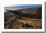 The border fence in Playa de Tijuana, Mexico, 2008.<br /> <br /> from my project: <br /> LA FRONTERA: Artists along the US Mexican Border<br /> &copy; Stefan Falke<br /> http://www.stefanfalke.com/