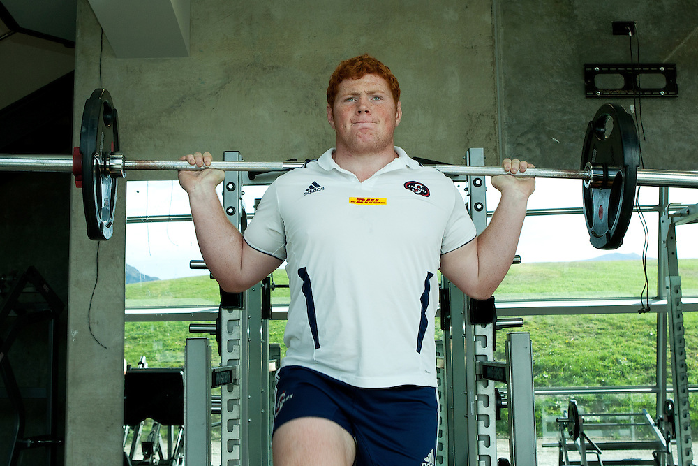 Stormer's Steven Kitshoff lifts weights during a gym session at Lakes Leisure Center, Queenstown, New Zealand, Monday April 09, 2012. Credit:SNPA / Teaukura Moetaua