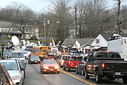 December 18, 2012-New York, NY- The City of Newtown in the Sandy Hook section of Connecticut moves forward in the aftermath of horrific murders that took the lives of 20 young students and six adults who were shot and killed while at Sandy Hook Elementary School on December 14, 2012 . The alleged shooter, Adam Lanza shot and killed himself as Police moved in on his location. (Terrence Jennings)