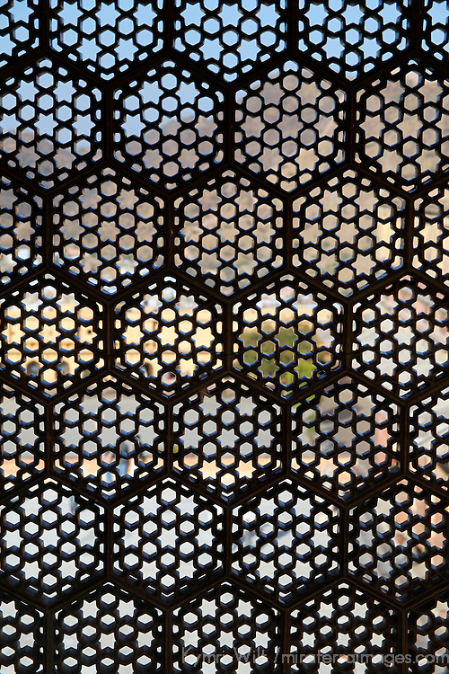 Asia, India, Amer. Lattice window screen at Amber Palace.