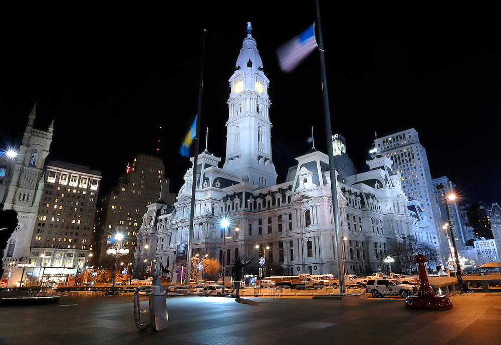 Philadelphia City Hall is the house of government for the city of Philadelphia, Pennsylvania. USA.
