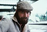 Scottish man in hat, Edinburg, Scotland, UK