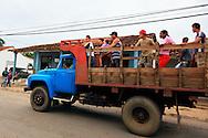 Truck transport in La Palma, Pinar del Rio, Cuba.
