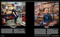 """Music Makers: Portraits of instrument makers, tuners and repairers"", photographs & text, Listen Magazine, Fall 2012"