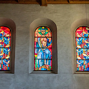 Stained glass windows. The cathedral of Münster Allerheiligen (All Saints Church) was built in Romanesque style in 1103, the oldest building in Schaffhausen. Kloster Allerheiligen (All Saints Abbey) is a former Benedictine monastery in Schaffhausen, Switzerland, Europe.