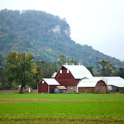 A collection of Barns that still can be seen while traveling the countryside in  the beautiful State of Wisconsin.<br /> Buffalo County- barn with Hwy 35 and Hwy 25 North.