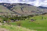 Farmland near Coldstream (looking towards Lumby) from Kalamalka Lake Provincial Park in Coldstream, British Columbia, Canada