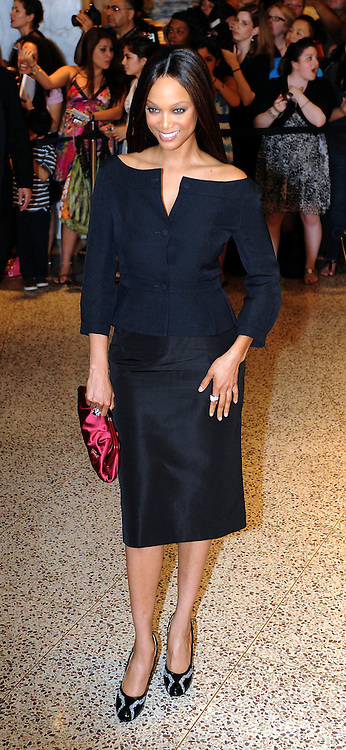 Tyra Banks arrives for the White House Correspondents Dinner in Washington, DC