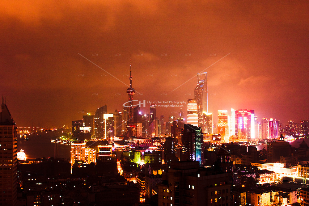 night view of Shanghai China