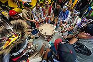 Gathering of Nations Pow Wow, Callin Eagle Drum Group, Navajo,  Albuquerque, New Mexico