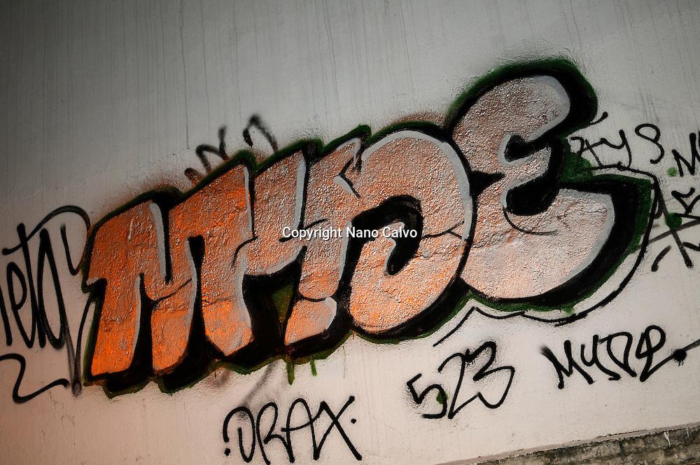 Graffiti on wall, Madrid