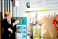 4-12-2013 DELFT - King Willem Alexander opens the  new headquarters Applikon Biotechnology in Delft . COPYRIGHT ROBIN UTRECHT