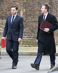 Downing Street, London, March 8th 2016. Wales Secretary Stephen Crabb and Attorney General Jeremy Wright  arrive for the weekly UK cabinet meeting at Downing Street. &copy;Paul Davey<br /> FOR LICENCING CONTACT: Paul Davey +44 (0) 7966 016 296 paul@pauldaveycreative.co.uk
