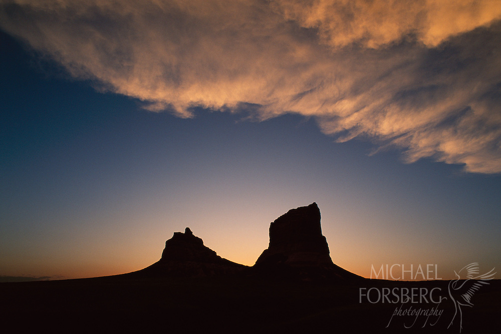 Western Landscape Silhouette a Silhouette of Western