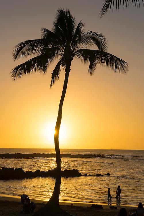 USA, South Pacific, Hawaii, Kauai,Poipu Beach Park