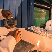 La cerimonia inizia bevendo il Santo Daime The night of São João. One of the most important ceremonies for Santo Daime's believers /