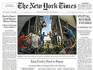 "THE NEW YORK TIMES. A1. ""Rush to Deport Could Hamper Minor's Claims"" by Julia Preston. July 20, 2014."
