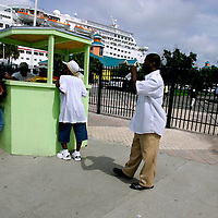 Woodes Rogers Walk near Bahamas Customs in Downtown Nassau in The Bahamas.