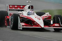 Scott Dixon in the wet at Watkins Glen International, Watkins Glen Indy Grand Prix, September 25, 2005