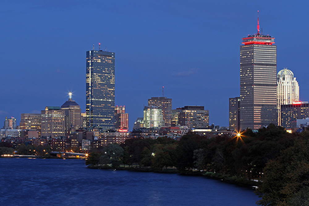 Boston cityscape photography showing famous landmarks such as the Prudential Center, Hancock building and 111 Huntington Avenue office building at night. The Prudential Tower is lid pink for Breast Cancer Awareness Month. <br /> <br /> Photos of Boston are available as museum quality photography prints, canvas prints, acrylic prints or metal prints. Prints may be framed and matted to the individual liking and decorating needs: <br /> <br /> http://juergen-roth.artistwebsites.com/featured/pink-dominance-juergen-roth.html<br /> <br /> Good light and happy photo making! <br /> <br /> My best,<br />  <br /> Juergen<br /> www.RothGalleries.com <br /> www.ExploringTheLight.com <br /> http://whereintheworldisjuergen.blogspot.com<br /> https://twitter.com/naturefineart<br /> https://www.facebook.com/naturefineart