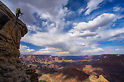 Mike Doran standing on the edge of the Grand Canyon.