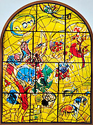The Tribe of Joseph. The Twelve Tribes of Israel depicted in stained glass By Marc Shagall (1887 - 1985). The Twelve Tribes are Reuben, Simeon, Levi, Judah, Issachar, Zebulun, Dan, Gad, Naphtali, Asher, Joseph, and Benjamin.