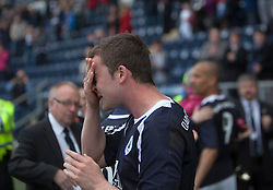 Falkirk's Thomas Scobie at the end of the game..Falkirk 3 v 2 Ayr United, 5/5/2012..©Michael Schofield..